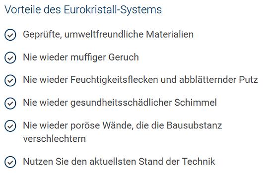 Eurokristall-Abdichtungssystem aus 69117 Heidelberg